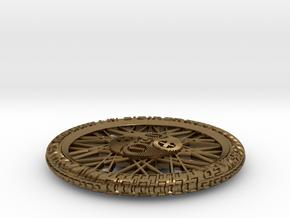 Ebiker Big Pendant in Raw Bronze: Medium