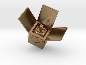 Box Ring  Jewelry (Bigger Size) in Natural Brass: Medium