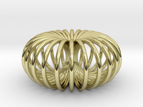 Torus pendant small in 18k Gold Plated Brass