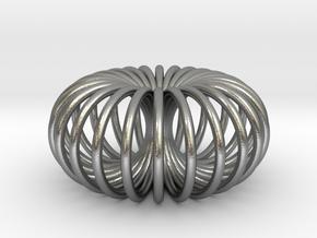 Torus pendant small in Natural Silver