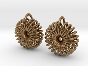 Torus Earrings in Natural Brass