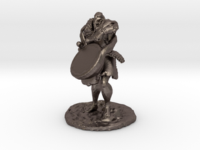 Ourok, Half-Orc Bard in Polished Bronzed Silver Steel