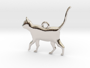 Schrödinger's Cat Pendant in Platinum