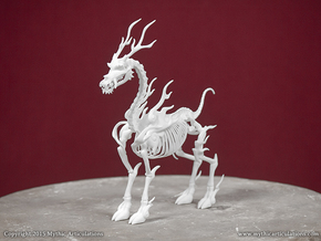 Kirin Skeleton in White Natural Versatile Plastic