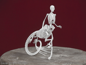 Ichthyocentaur skeleton in White Natural Versatile Plastic