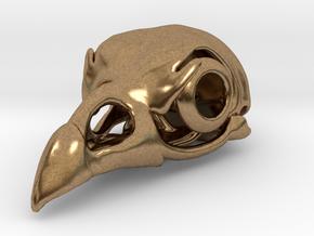 Cockatrice Skull Pendant in Natural Brass