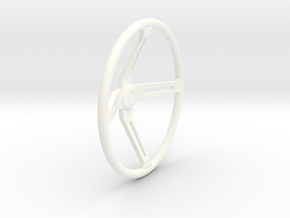 Steering Wheel V4 1/12 in White Processed Versatile Plastic