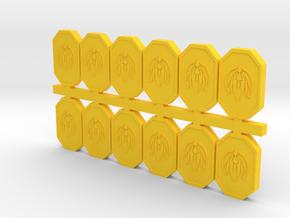 Cubits, New, Mixed (Battlestar Galactica), 1/6 in Yellow Processed Versatile Plastic