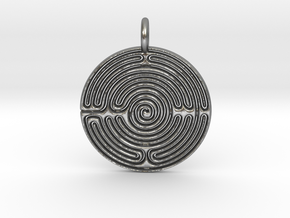 Small Labyrinth in Natural Silver