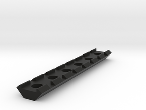 21mm Rail 115mm in Black Strong & Flexible