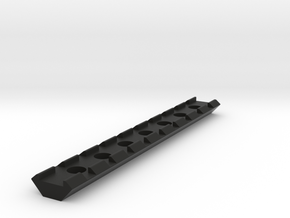 20mm Rail 145mm in Black Natural Versatile Plastic