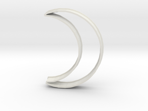 Crescent Moon Cookie Cutter in White Strong & Flexible