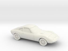 1/87 1968-73 Opel  GT in White Natural Versatile Plastic