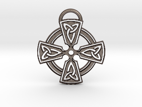 Celtic Cross Keychain in Stainless Steel