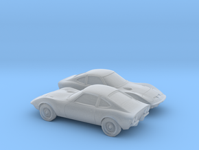 1/160 2X 1968-73 Opel GT in Smooth Fine Detail Plastic