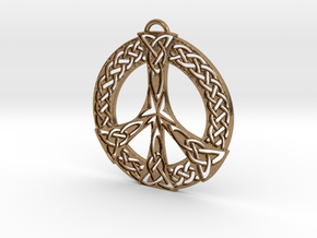 Celtic Peace Symbol Pendant in Natural Brass