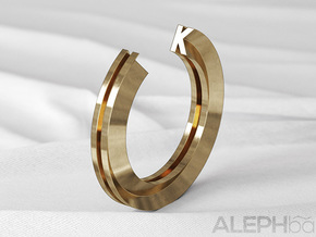K Ring in Natural Bronze: 6 / 51.5