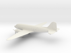 Douglas DC-3 in White Natural Versatile Plastic: 1:200