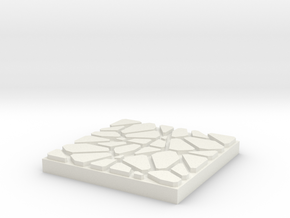 Dungeon Brix Floor Tile 2 X 2 V1 in White Natural Versatile Plastic