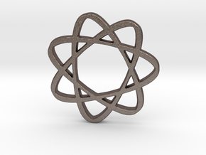 Infinatom in Polished Bronzed Silver Steel
