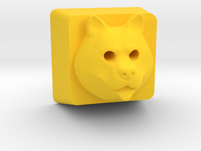 Fat Shiba Cherry MX Keycap (Backlit) in Yellow Strong & Flexible Polished