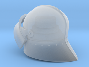 Medieval Sallet compatible with playmobil figure in Smooth Fine Detail Plastic