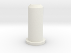 Barrel Plug 2/2 in White Natural Versatile Plastic