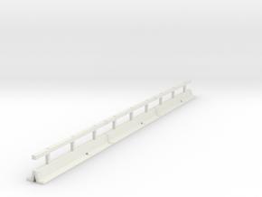OO scale Varioguard Metal Motorway Barrier 12m len in White Strong & Flexible