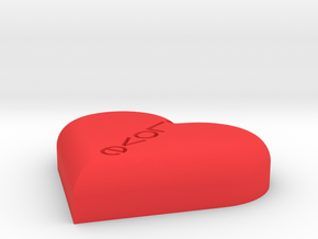 Love Heart in Red Processed Versatile Plastic