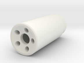 Muzzle Device in White Natural Versatile Plastic