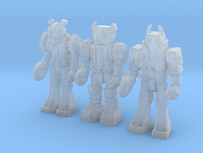 Waruders at Attention, 3 35mm Minis in Smooth Fine Detail Plastic