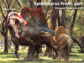 Spinosaurus Front.part (Total 70cm / 1:20) in White Natural Versatile Plastic