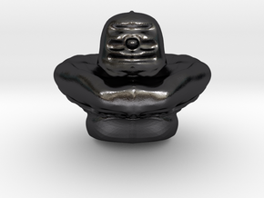 Shiva Lingam Sculptris Large in Polished and Bronzed Black Steel