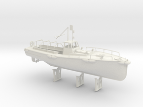 1/32 IJN Motor Boat Cutter 11m 60hp in White Natural Versatile Plastic