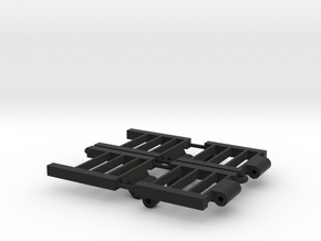 1/64 Combine Trailer Ramps in Black Strong & Flexible