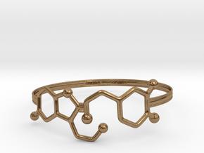 Serotonin Dopamine Bracelet  65mm in Natural Brass