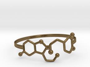 Serotonin Dopamine Bracelet Embossed 70mm in Natural Bronze