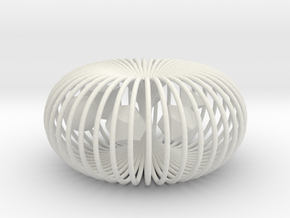 Torus platonic solids in White Natural Versatile Plastic