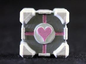 Companion Cube in Smooth Fine Detail Plastic