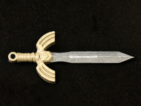 Seashell Sword in Smooth Fine Detail Plastic
