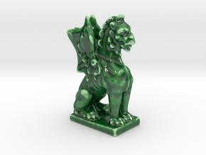Dragon Gargoyle  in Gloss Oribe Green Porcelain