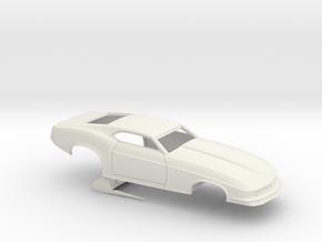 1/12 1970 Pro Mod Mustang No Scoop in White Natural Versatile Plastic