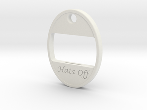 Hats Off Bottle Opener in White Natural Versatile Plastic: Large