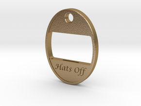 Hats Off Bottle Opener in Polished Gold Steel: Small