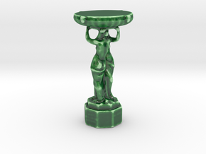 Fountain Of Artists in Gloss Oribe Green Porcelain