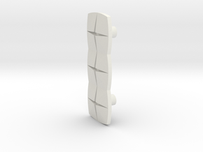 Tile3 (Handle/Pull) in White Natural Versatile Plastic
