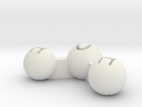 Water Atom Pendant Finding in White Natural Versatile Plastic