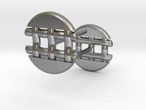 Pie Lattice Earring 4 in Natural Silver