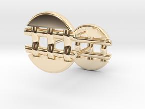 Pie Lattice Earring 4 in 14K Yellow Gold