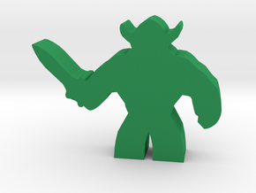 Game Piece, Brute Warrior in Green Processed Versatile Plastic